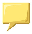 yellow speech bubble square shape icon vector image