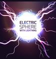 elecktric sphere light effect background vector image