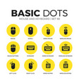 mouse and keyboard flat icons set vector image