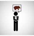 concept stock exchange market bear sell icon vector image