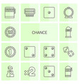 14 chance icons vector image vector image