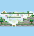 2d tileset platform game 45 vector image