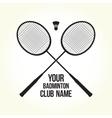 Badminton rackets silhouette club logo vector image vector image