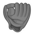 Baseball glove icon black monochrome style vector image vector image