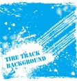 Blue tire track backgound vector image vector image