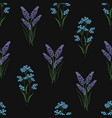 botanical seamless pattern with embroidered vector image