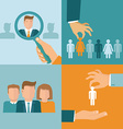 business and employment concepts in flat style vector image