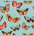 butterfly moth colorful seamless pattern vector image vector image