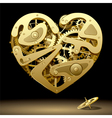 Clockwork Heart Gold vector image vector image