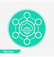 cloud network icon sign symbol vector image