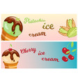 collection of ice cream banners sweet dessert cold vector image vector image