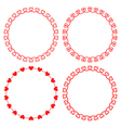 collection round frames from hearts vector image vector image