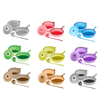 Colorful Set of Kitchen Utensil Icons vector image