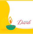 creative flat style diwali greeting background vector image