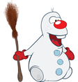 Cute Snowman Cartoon Character vector image