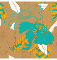 decorative floral seamless wallpaper vector image vector image
