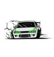 drift car vector image
