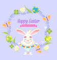 easter background with traditional objects vector image vector image