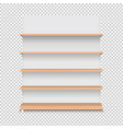 emply store wooden shelf supermarket stand vector image vector image