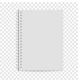 exercise book icon realistic style vector image vector image
