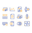 fireworks file and world water icons set ab vector image vector image