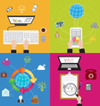 Flat Business and Technology Concept vector image vector image