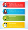 Flat Business Infographic BackgroundTemplate with vector image vector image