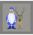 flat shading style icon Santa Claus Reindeer vector image