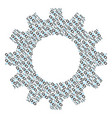 gear collage of break chain link icons vector image vector image