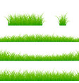 grass borders set grass plant panorama isolated vector image vector image