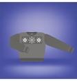Gray Wool Sweater vector image