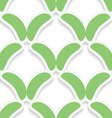Green simple shapes on white pattern vector image vector image