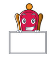grinning with board king throne character cartoon vector image