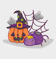 happy halloween cartoons vector image