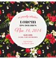 Invitation or Congratulation Card for Wedding vector image vector image