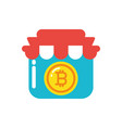 isolated bitcoin inside store design vector image vector image