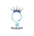 king bulb logo vector image