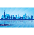Las Vegas city skyline silhouette background vector image