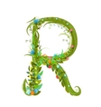 Letter R floral latin decorative character vector image vector image