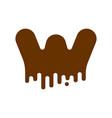 letter w chocolate font sweetness alphabet liquid vector image vector image