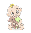 little boy with a toy vector image vector image