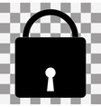 Lock icon on a transparent vector image vector image