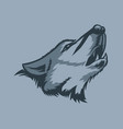 lonely howling wolf tattoo style vector image vector image