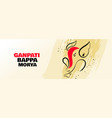 lord ganesha creative design banner for ganesh vector image vector image