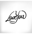 Love You hand lettering poster vector image
