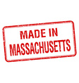 made in Massachusetts red square isolated stamp vector image vector image