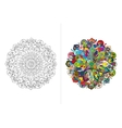 Mandala ornament hand made sketch for your design vector image vector image
