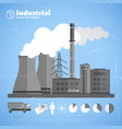 manufacturing plant background vector image