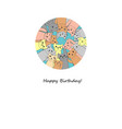 many funny cats happy birthday card vector image