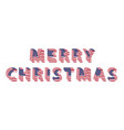 merry christmas text 3d letters from american flag vector image